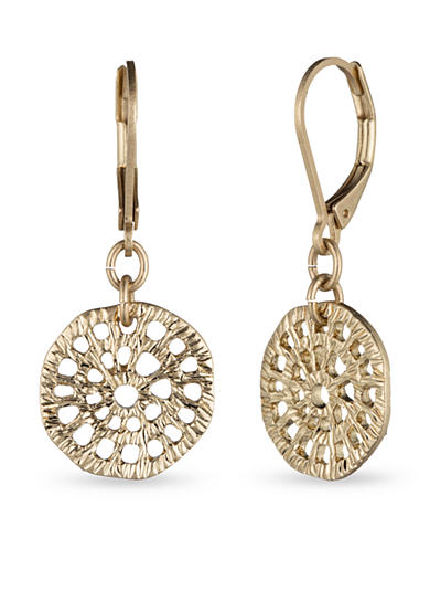 Lonna & Lilly Worn Gold-Tone Drop Earrings