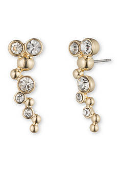 Lonna & Lilly Gold-Tone and Crystal Bubble Crawler Earrings