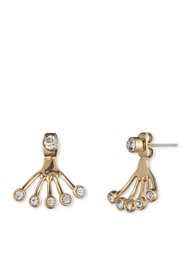 Lonna & Lilly Gold-Tone and Crystal Front and Back Earrings