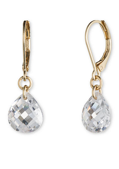 Lonna & Lilly Gold Tone and Cubic Zirconia Small Drop Earrings