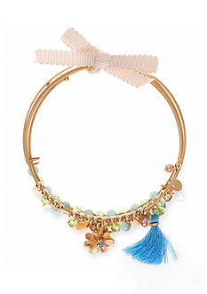 Lonna & Lilly Gold-Tone Flower Bangle Set