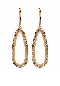 Lonna & Lilly Gold-Tone White Drop Earrings