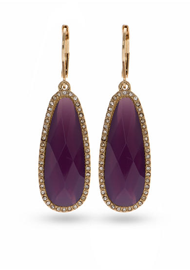 Lonna & Lilly Gold-Tone Purple Drop Earrings