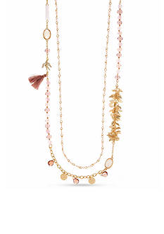 Lonna & Lilly Gold-Tone Double Row Strandage Necklace