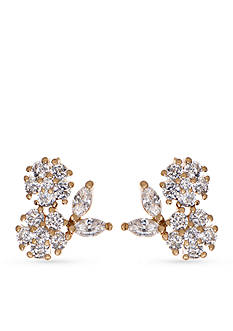 Lonna & Lilly Gold-Tone Cubic Zirconia Cluster Stud Earrings