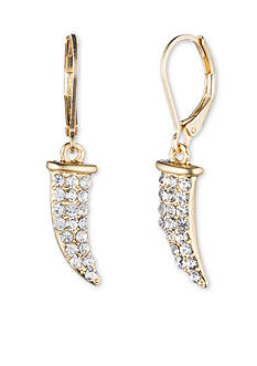 Lonna & Lilly Gold-Tone Crystal Horn Drop Earrings