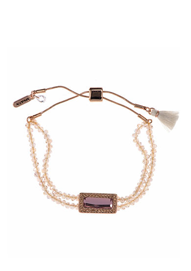 Lonna & Lilly Rose Gold-Tone Beaded Slider Bracelet