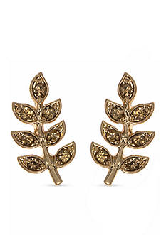 Lonna & Lilly Gold-Tone Leaf Stud Earrings