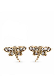 Lonna & Lilly Gold-Tone Dragonfly Stud Earrings