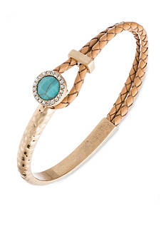 Lonna & Lilly Gold-Tone Leather Bangle Bracelet