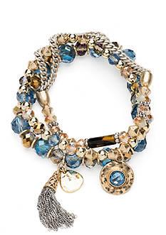 Lonna & Lilly Two-Tone 3-Piece Stretch Bracelet Set