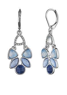 Lonna & Lilly Silver-Tone Blue Chandelier Earrings