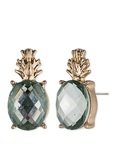Lonna & Lilly Gold-Tone Pineapple Stud Earrings