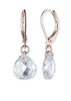 Lonna & Lilly Rose Gold-Tone Small Crystal Drop Earrings