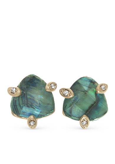 Lonna & Lilly Gold-Tone Blue Stud Earrings