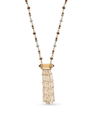 Lonna & Lilly Gold-Tone Tassel Pendant Necklace