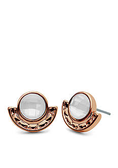 Lonna & Lilly Rose Gold-Tone Stone Stud Earrings