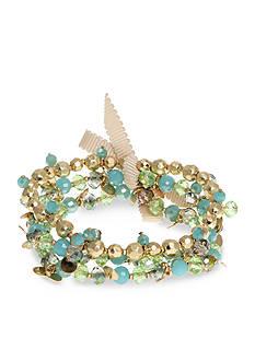 Lonna & Lilly Gold-Tone Green Stretch Bracelet