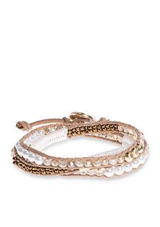 Lonna & Lilly Gold-Tone White Wrap Bracelet