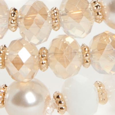 Fashion Jewelry: Strand: White Chaps Gold-Tone Grace Bay 3-Piece Stretch Bracelet Sets