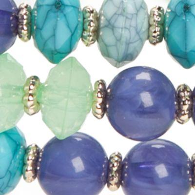 Fashion Jewelry: Strand: Blue Chaps Gold-Tone Grace Bay 3-Piece Stretch Bracelet Sets