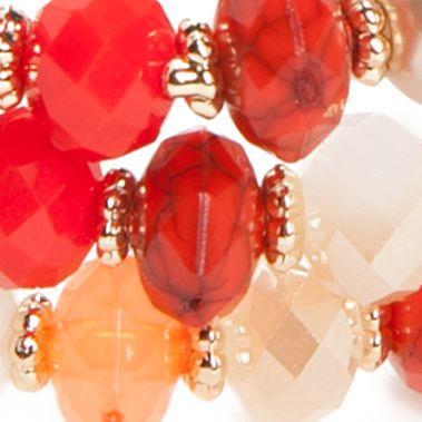 Fashion Jewelry: Strand: Orange Chaps Gold-Tone Grace Bay 3-Piece Stretch Bracelet Sets
