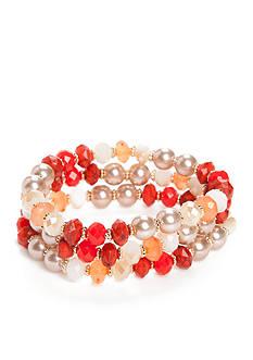Chaps Gold-Tone Grace Bay 3-Piece Stretch Bracelet Sets