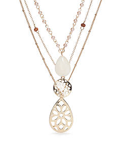 Chaps Sultan Gardens Layered Necklace Set