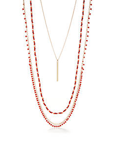 Chaps Grace Bay 3-Piece Layered Necklace Set