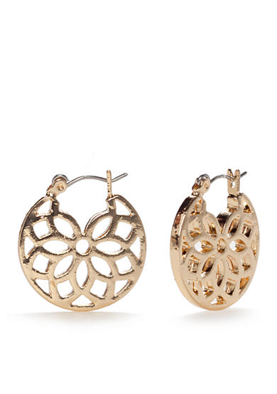 Chaps Sultan Garden Hoop Earrings