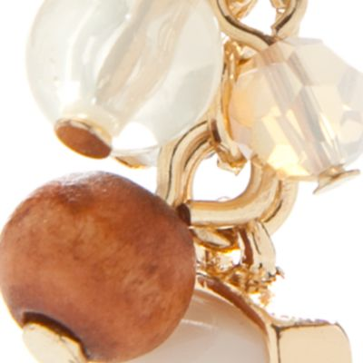 Dangle Earrings: White Chaps Bluffton Nights Cluster Drop Earrings