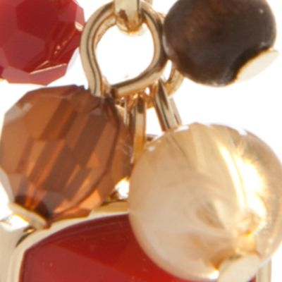 Dangle Earrings: Orange Chaps Bluffton Nights Cluster Drop Earrings