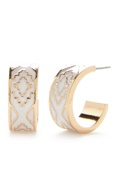 Chaps Bluffton Nights C Hoop Earrings