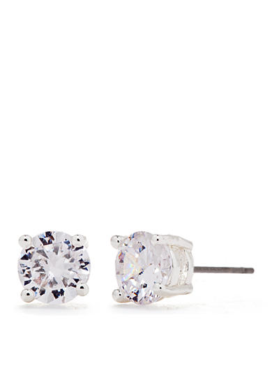 Chaps Round Crystal Stud Earrings