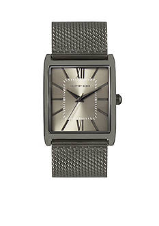 Geoffrey Beene Men's Gunmetal Mesh Watch