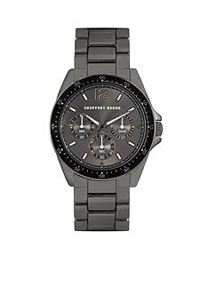 Geoffrey Beene Men's Gunmetal Watch