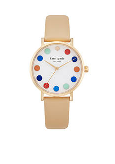 kate spade new york Women's Beige Metro Watch