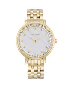 kate spade new york® Women's Gold-Tone Stainless Steel Monterey Three-Hand Glitz Watch