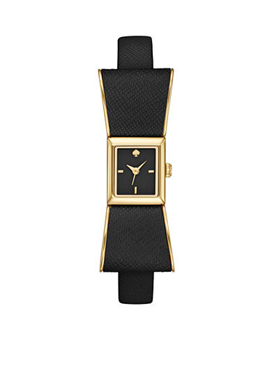 kate spade new york® Women's Kenmare Black Leather 3-Hand Watch