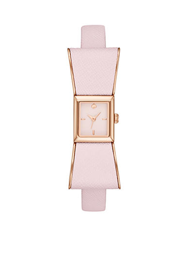 kate spade new york® Women's Kenmare Pink Leather Strap 3-Hand Watch