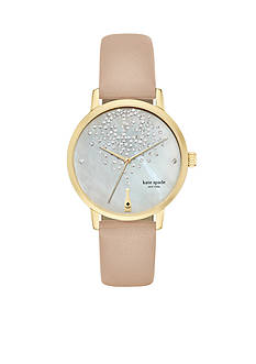 kate spade new york® Metro Vachetta Three-hand Watch