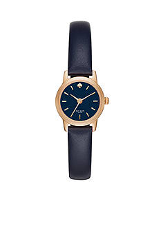 kate spade new york Metro Blue Leather Three-Hand Watch