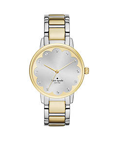 kate spade new york® Gramercy Scalloped Two-Tone Bracelet Three-Hand Watch