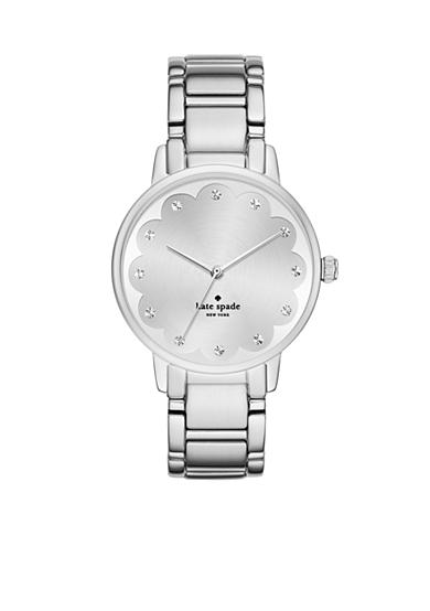 kate spade new york® Gramercy Scallop Stainless Steel Three Hand Watch