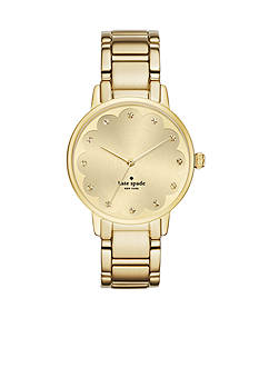 kate spade new york® Gramercy Scalloped Gold-Tone Three-Hand Watch