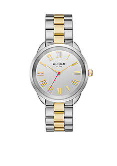 kate spade new york® Crosstown Two-Tone Stainless Steel Bracelet Three-Hand Watch