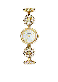 kate spade new york Daisy Gold-Tone Bracelet Three-Hand Watch