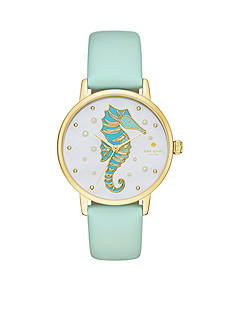 kate spade new york® Metro Novelty Mint Green Three-Hand Watch