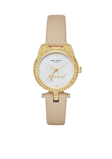kate spade new york® Women's Mini Metro Three Hand 'Meow' Watch