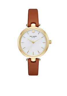 kate spade new york Women's Holland Three Hand Luggage and Gold-Tone Watch